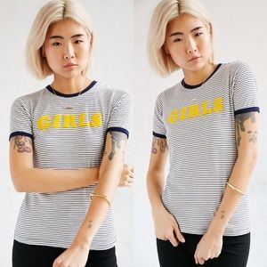 Truly Madly Deeply Girls Ringer Tee